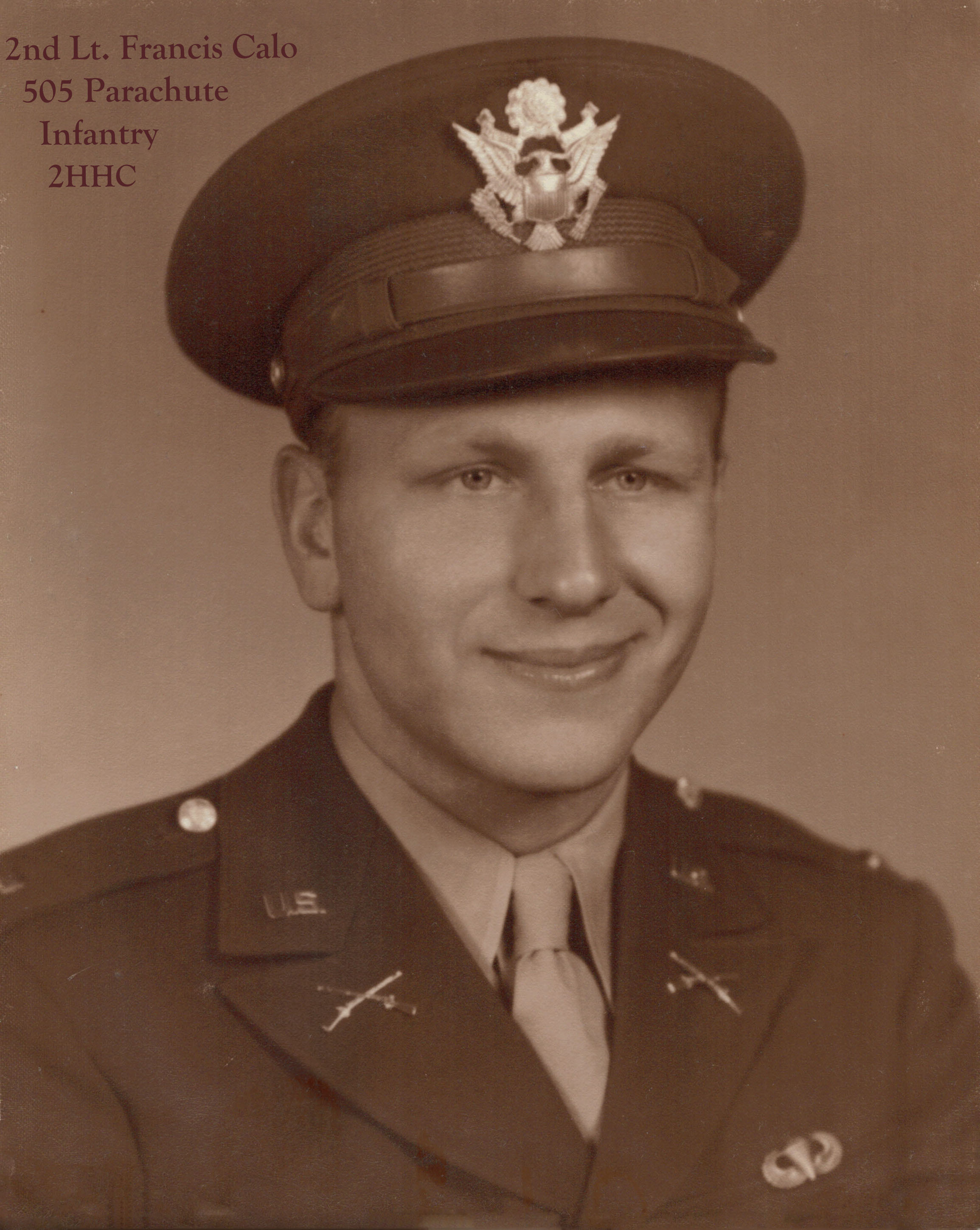2nd Lt. Francis G. Calo - 2HHC