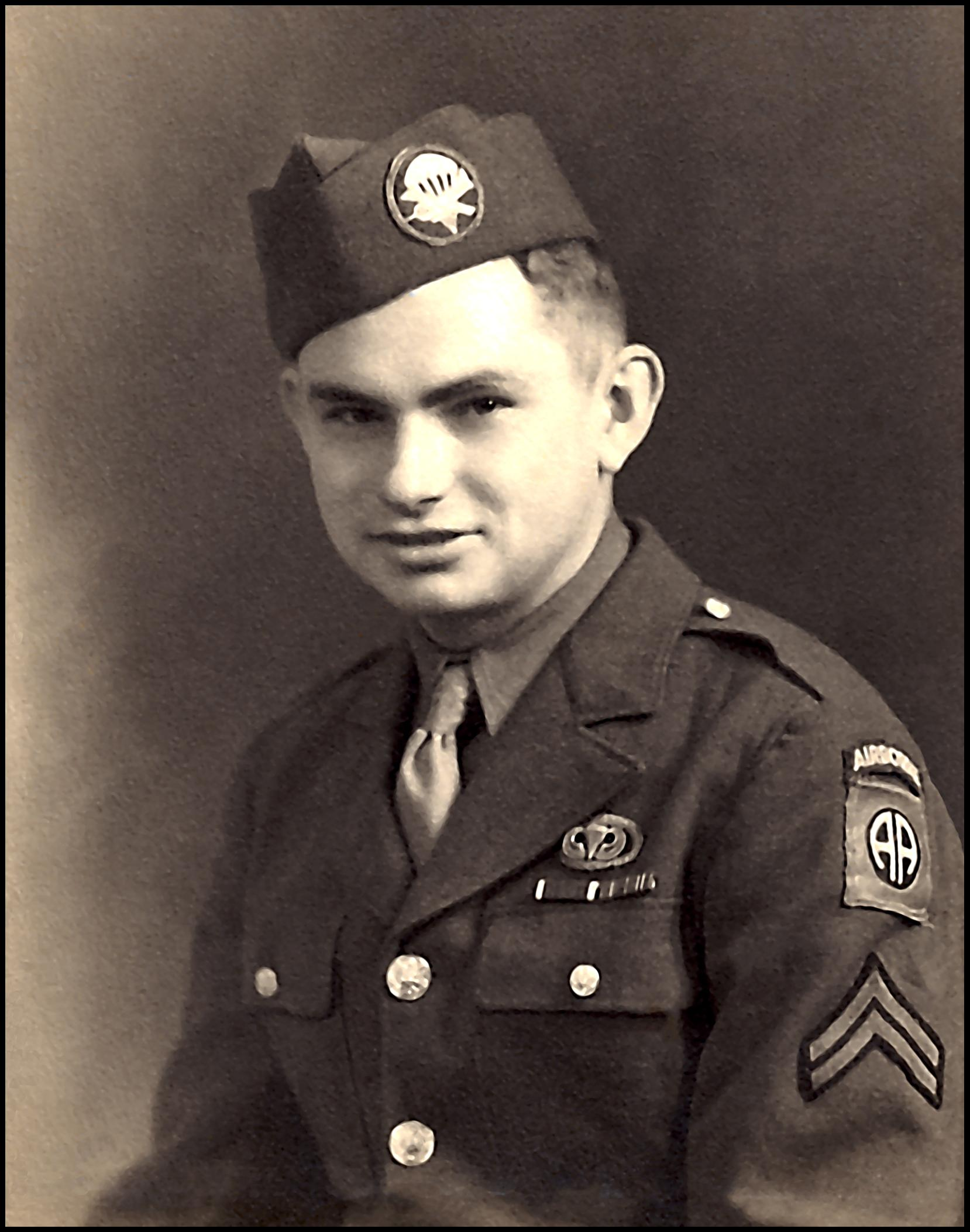 Corporal Julius Curtis - G Company - Purple Heart medal Normandy