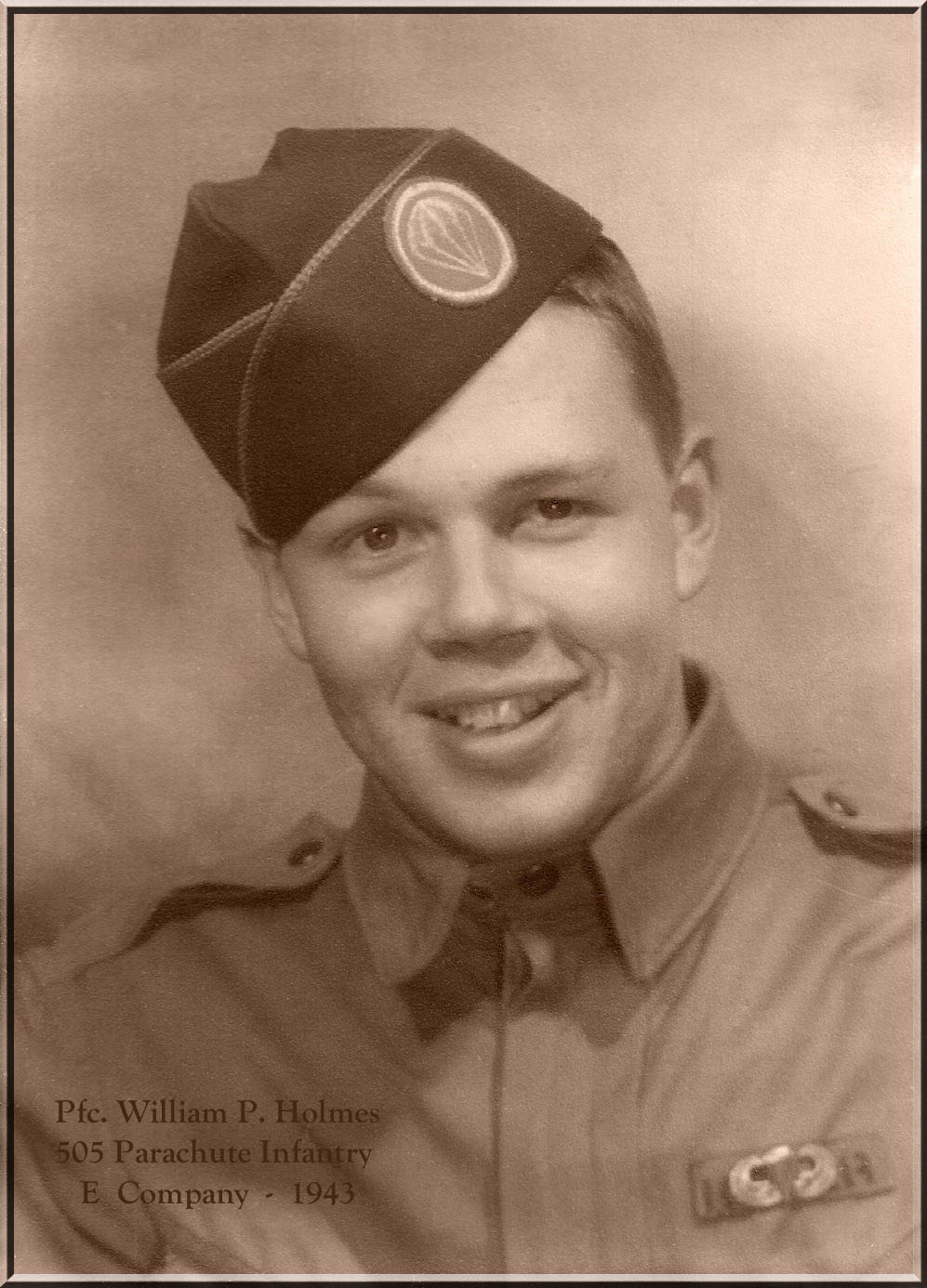William P Holmes - E company - KIA October 23 1944 in Holland - Bronze Star with oak leaf cluster