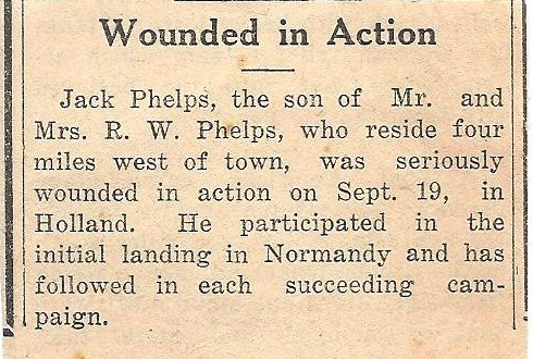 Jack is wounded in Holland.