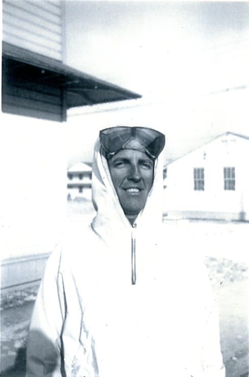 1st Lt. Sam Cook outside his barracks in Alta, Utah