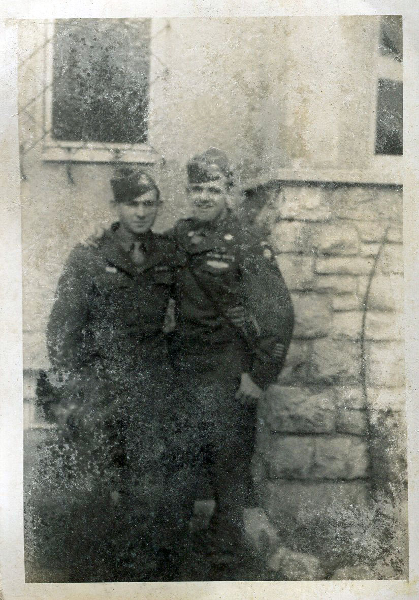 Private Ray Daudt and Pfc. John Diffin, Berlin 1945.