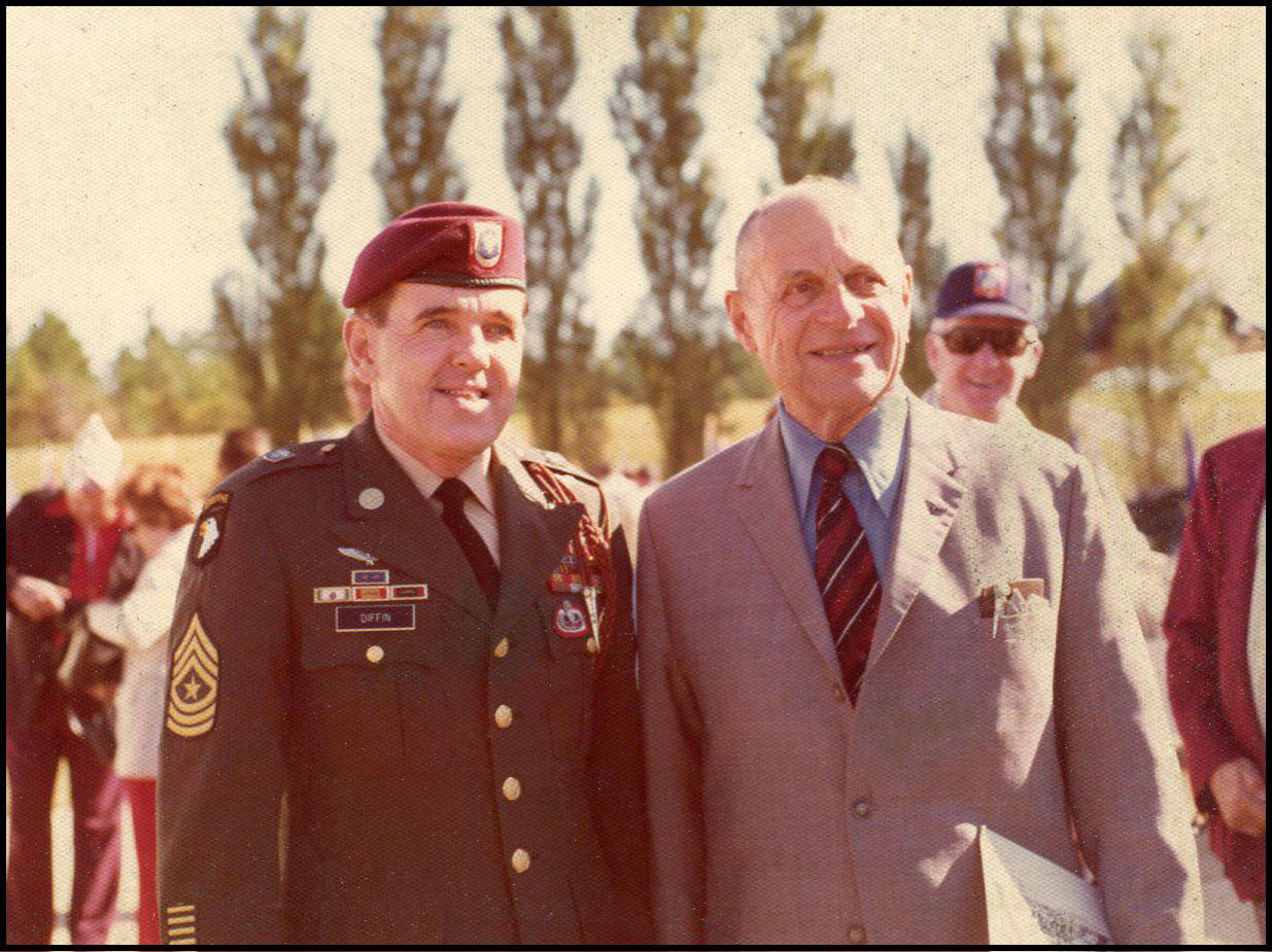 Sgt. Major Diffin and General Ridgeway 1974.