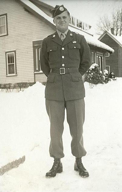 Private Bill Hahnen in Wisconsin January 1943.