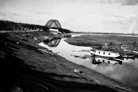 Another view of the vehicle bridge in 1944.