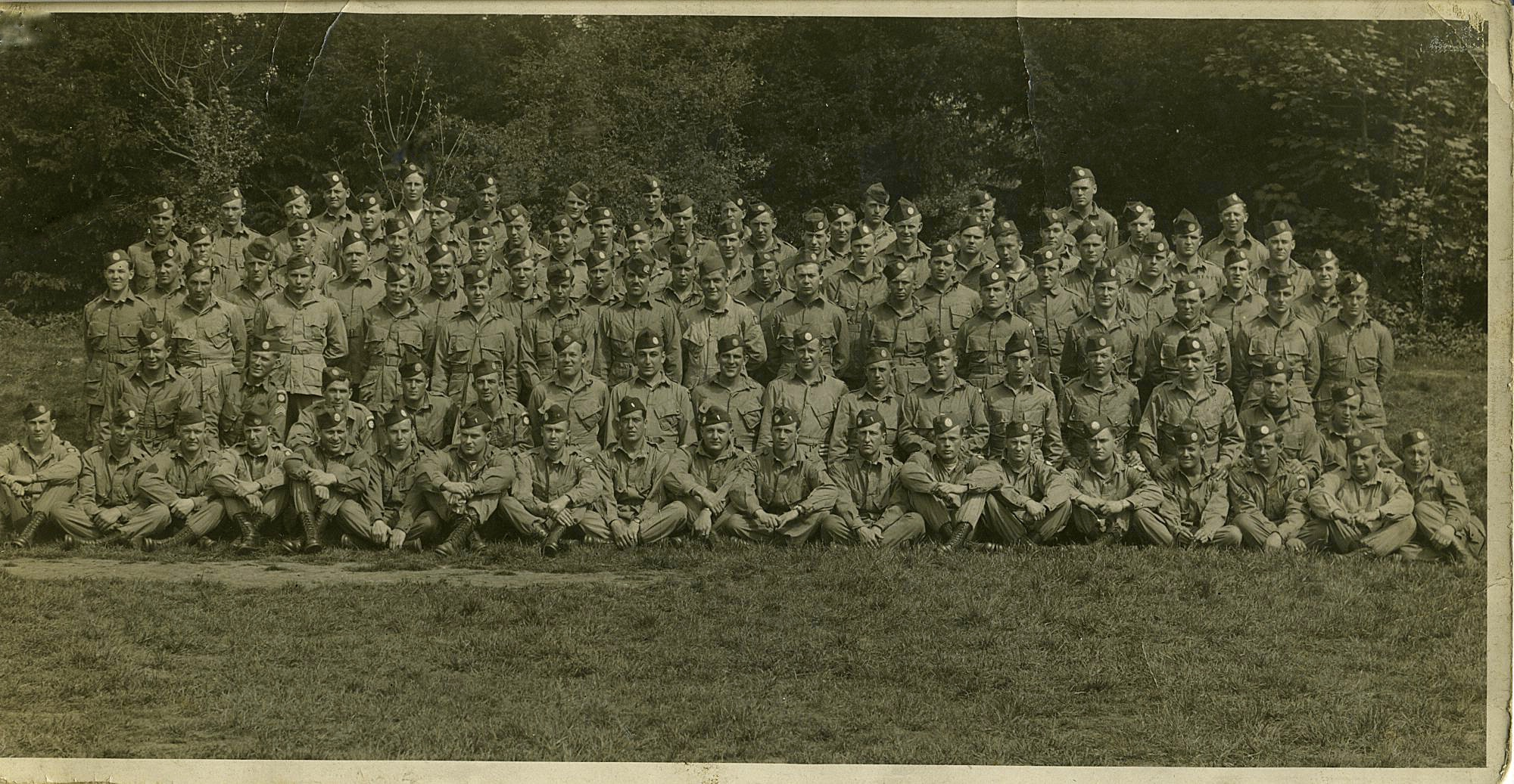 2nd Battalion's Headquarters Company England, 1944.