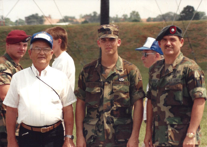 Three generations of Petermans in Airborne service.