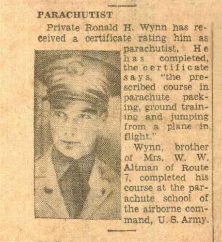 Newspaper article Ron Wynn