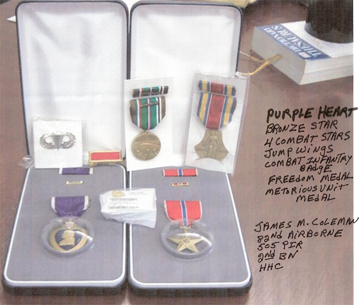 Purple Heart and Bronze Star